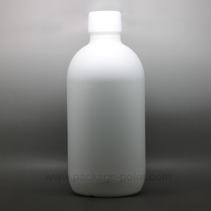 500ml Cylindrical Boston HDPE Bottle