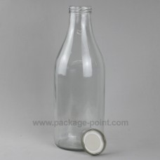 1000 ml Milk Round Glass Bottle