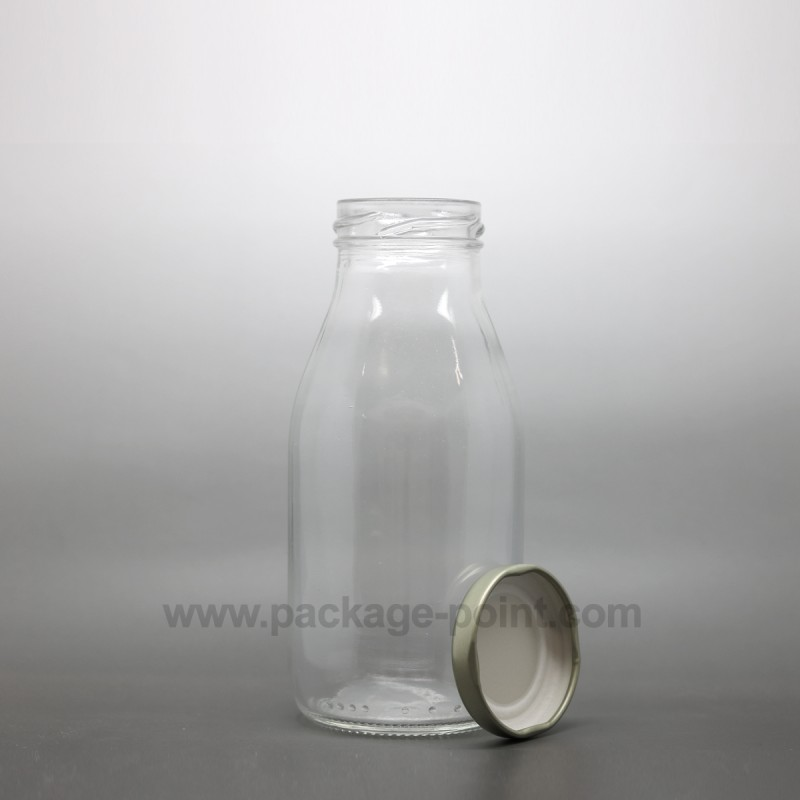 250 ml Milk Round Glass Bottle