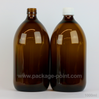 1000 ml Syrup Bottle Glass Pharmacy Amber