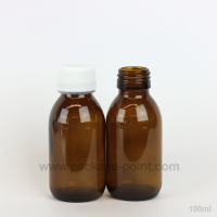 100 ml Syrup Bottle Glass Pharmacy Amber