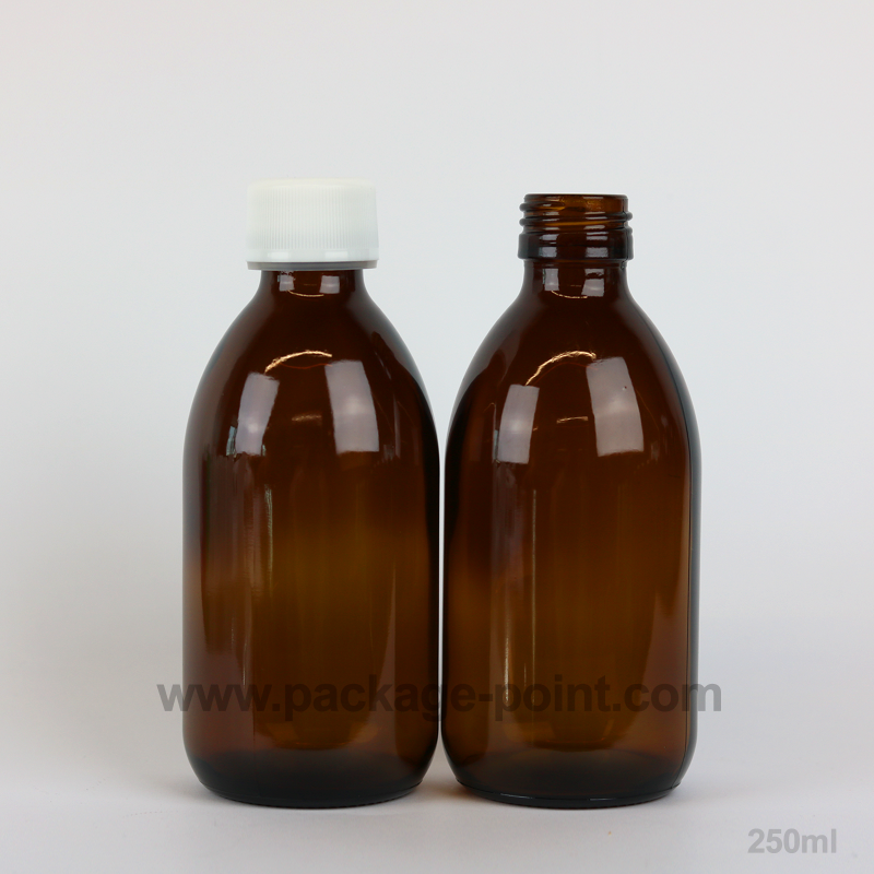 b281c03041e6 Syrup Bottle Glass Pharmacy Amber 250 ml