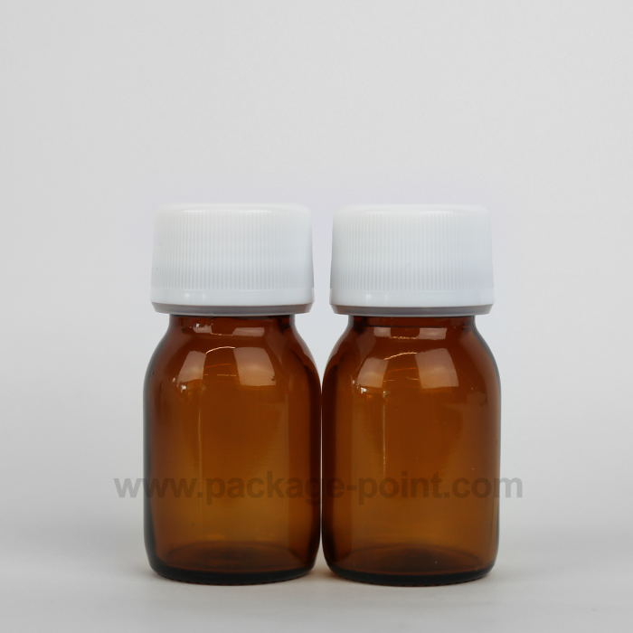 30 ml Syrup Bottle Glass Pharmacy Amber