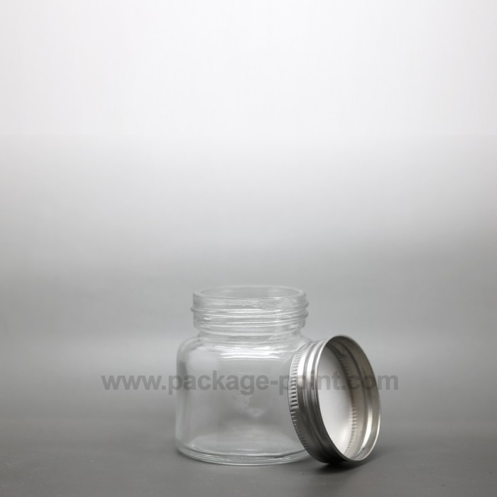 75 ml Glass Jar with metal cap