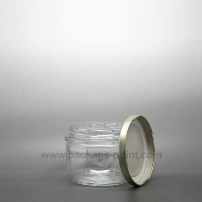 110 ml Glass Jar with golden metal cap