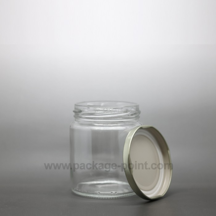 190 ml Glass Jar with golden metal cap