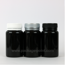 100ml Pill Bottle plastic PET Black
