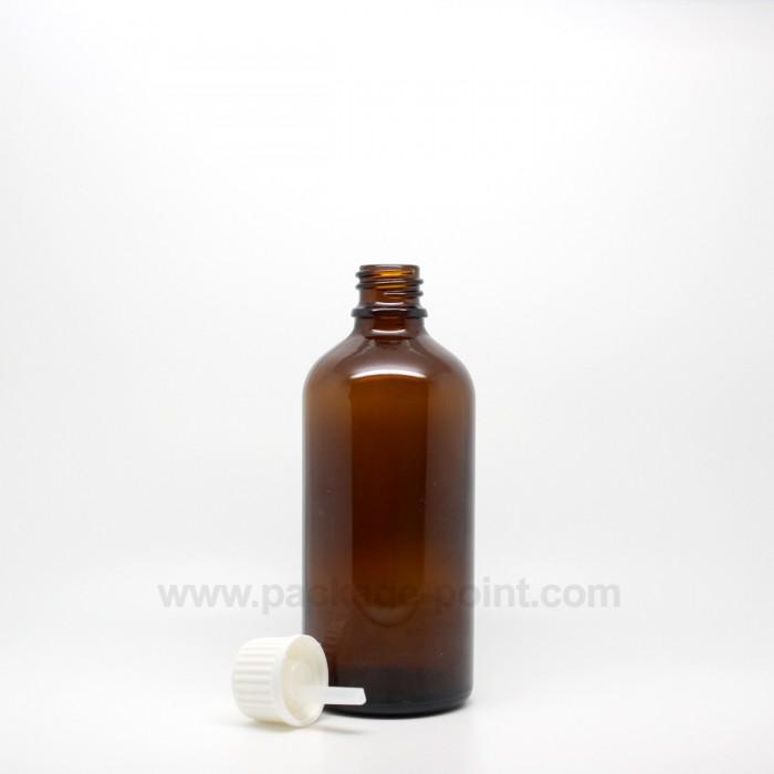 100 ml Dropper Bottle Glass Amber