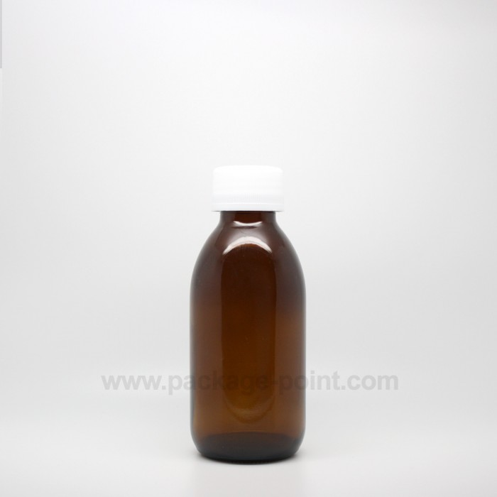 150 ml Syrup Bottle Glass Pharmacy Amber
