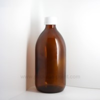 500 ml Syrup Bottle Glass Pharmacy Amber