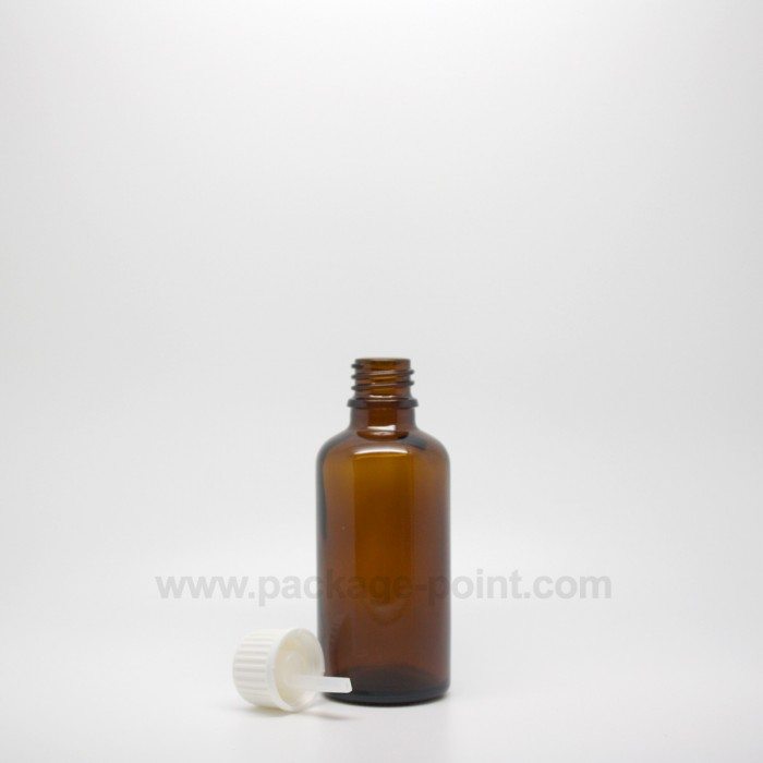 50 ml Dropper Bottle Glass Amber
