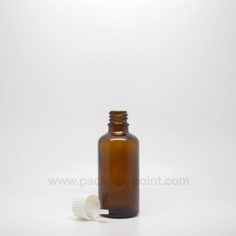 50 ml Dropper Bottle Glass Amber