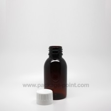 100ml Round Bottle Amber plastic PET