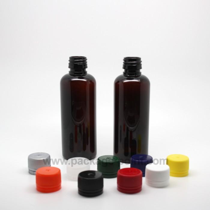 Round Bottle 60ml Amber PET